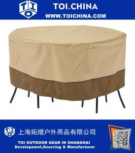 Classic Accessories Round Patio Bistro Table and Chair Set Cover - Durable and Water Resistant Patio Furniture Cover
